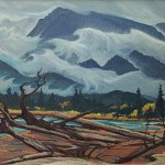 Kicking Horse River, 1969 12 x 16 inches  I  Oil on Board Private Collection