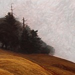 Mendocino Coastal Hills with Fog, c. 1975 12 x 24 inches  I  Oil on Board Private Collection