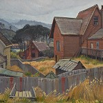 Shanties and Shacks - North Coast, c.1940 21.5 x 27.5 inches  I  Oil on Canvas Private Collection