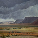 Walpi Mesa, Arizona, c. 1940 10 x 14 inches  I  Oil on Board Private Collection
